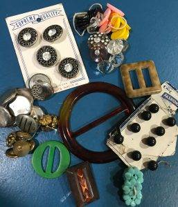Vintage buttons and buckles