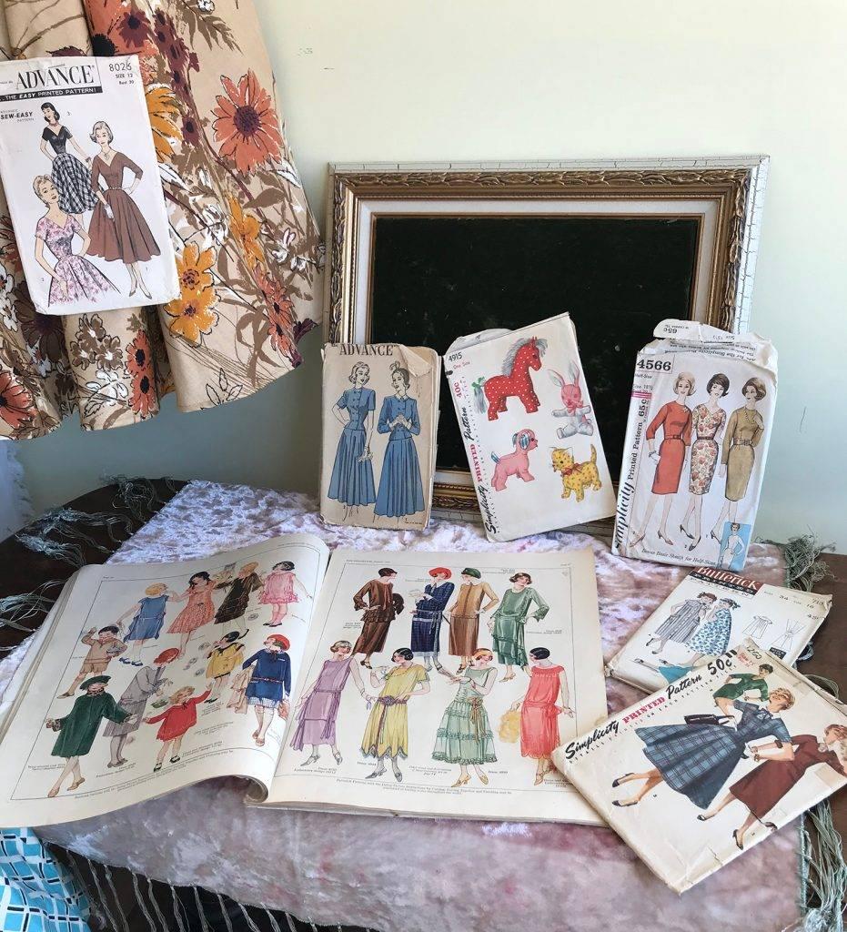 Simplicity, Butterick, Advance vintage sewing patterns