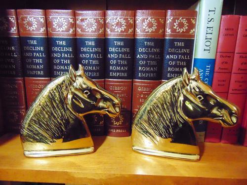 Virginia Metalcrafters Brass Horse Head Bookends