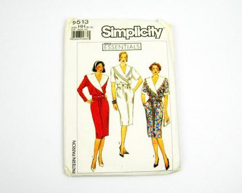 1980s Uncut Simplicity Pattern Wiggle Dress No 9513