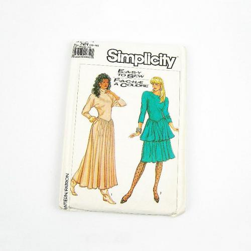 Uncut 1980s Vintage Simplicity Dress Sewing Pattern 8284