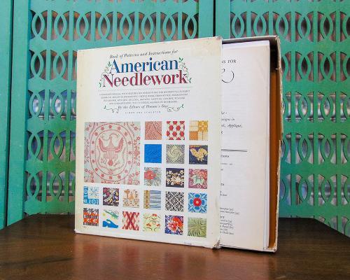Vintage Book of Needlework Craft Patterns - Needlepoint, Embroidery, Cross Stitch, Crewel, Knitting, Crochet