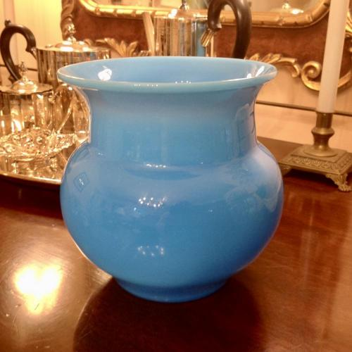 Signed Mid Century Eric Hoglund for Boda Blue Vase